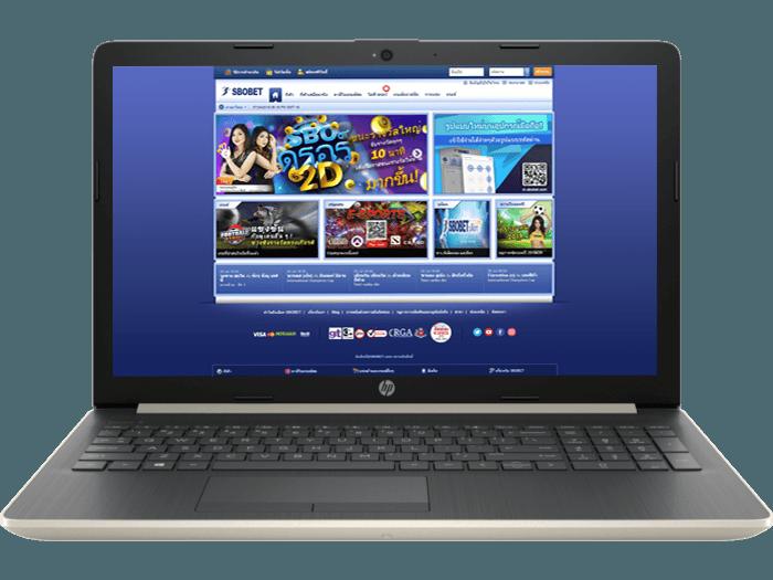 เข้าระบบผ่านหน้าเว็บไซต์  SBOBET ด้วยคอมพิวเตอร์