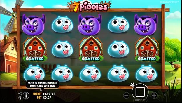 7 PIGGIES เกมสล็อตออนไลน์ ที่ขนขบวนความน่ารักของน้องหมูพิกกี้